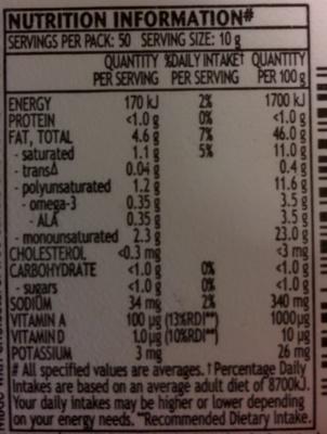 MeadowLea Lite - Voedingswaarden - en