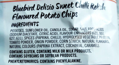 sweet chilli relish - Ingredients - en