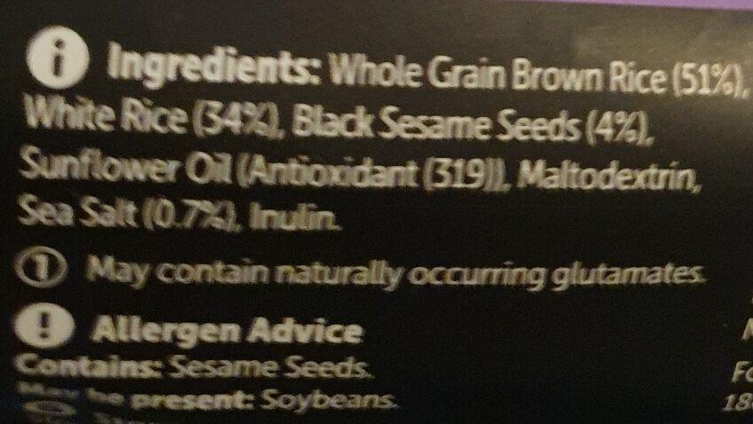 rice cracker woollies - Ingrédients - en
