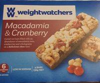 Barres de Céréales Noix Macadamia & Cranberry - Product - fr