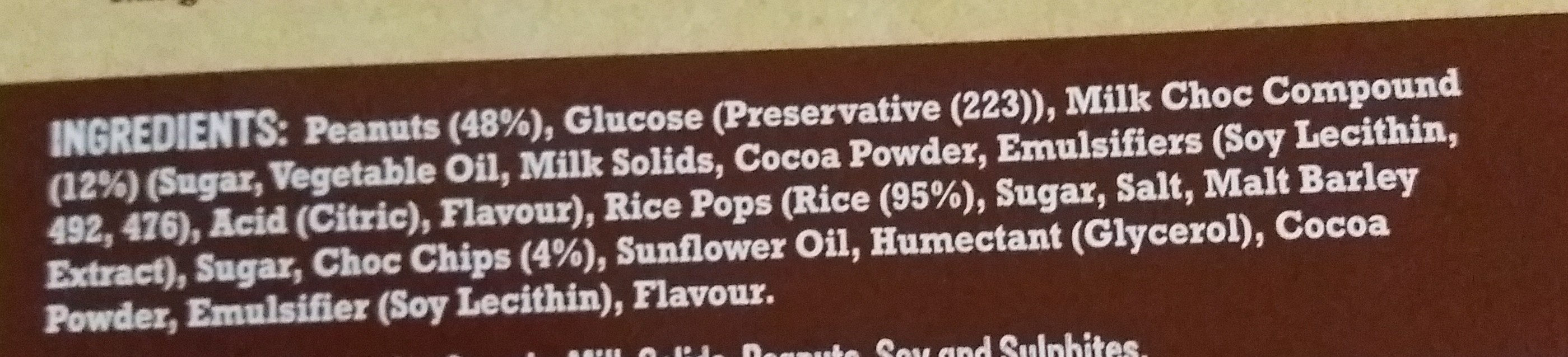 Mega Nuts Double Choc - Ingredients - en