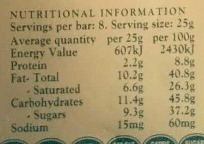 Coconut block - Nutrition facts - en