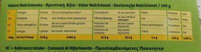 Fruits Kiwi Jaune - Informations nutritionnelles