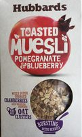 Hubbards Muesli Toasted Pomegranate & Bl / Berry - Nutrition facts