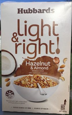 Light & Right Cereal Hazelnut & Almond - Produit - en