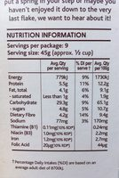 Light & Right Cereal Hazelnut & Almond - Informations nutritionnelles - en