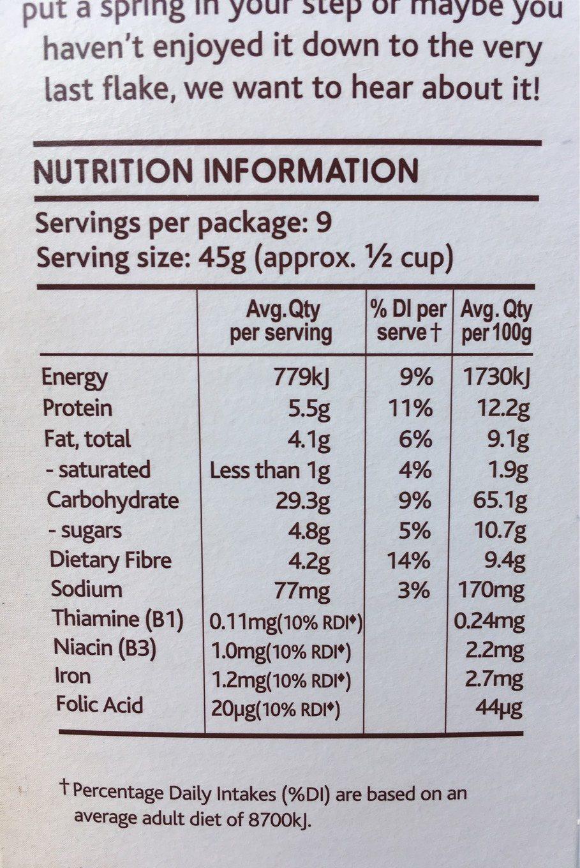Light & Right Cereal Hazelnut & Almond - Informations nutritionnelles - en