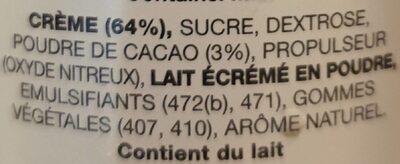 Chocolat mousse - Ingredients - fr
