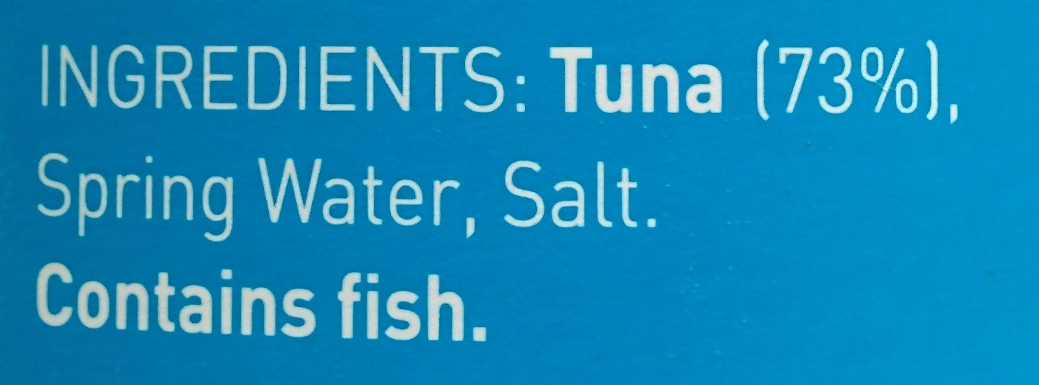 Tuna - Chunky style in spring water - Ingredients