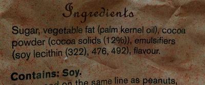 Dark Compound Chocolate Drops - Ingrediënten - en