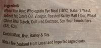 Ploughmans Harvest Rye - Ingrédients - en