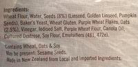 Ploughmans Otago Oats & Seeds - Ingrédients - en