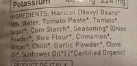 organic Baked Beans - Ingredients - en