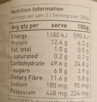 organic Baked Beans - Nutrition facts - en