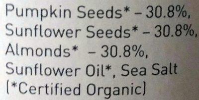 Energy Spread : Pumpkin, Sunflower Seed & Almond - Ingredients - fr