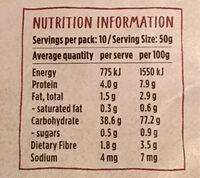 Certified Organic Brown Basmati Rice - Nutrition facts - en