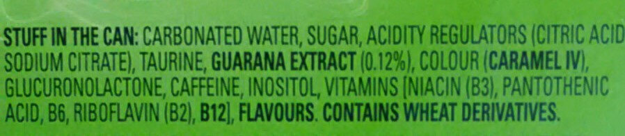 V energy drink - Ingredients - en