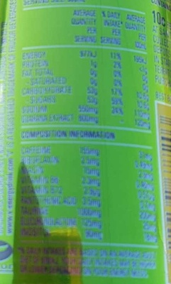 V - Nutrition facts