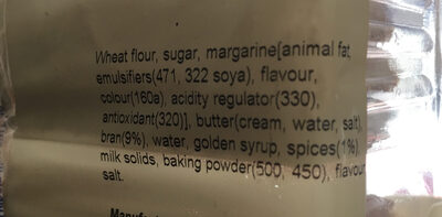 Spicy bran fingers - Ingredients