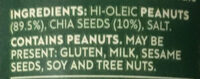 Mother Earth Chia Seed Natural Peanut Butter - Ingredients - fr