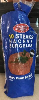 calorie 10 Steaks Hachés Surgelés