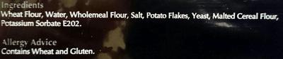 Authentic Italian Pizza Bases - Ingredients