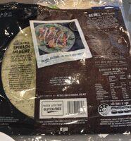 Gluten Free Spinach & Hemp Wraps - Product - en