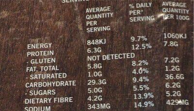 Gluten Free Spinach & Hemp Wraps - Nutrition facts - en
