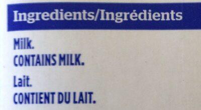 Lait entier - Ingrediënten