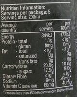 Fruit fix smoothie - Nutrition facts - en