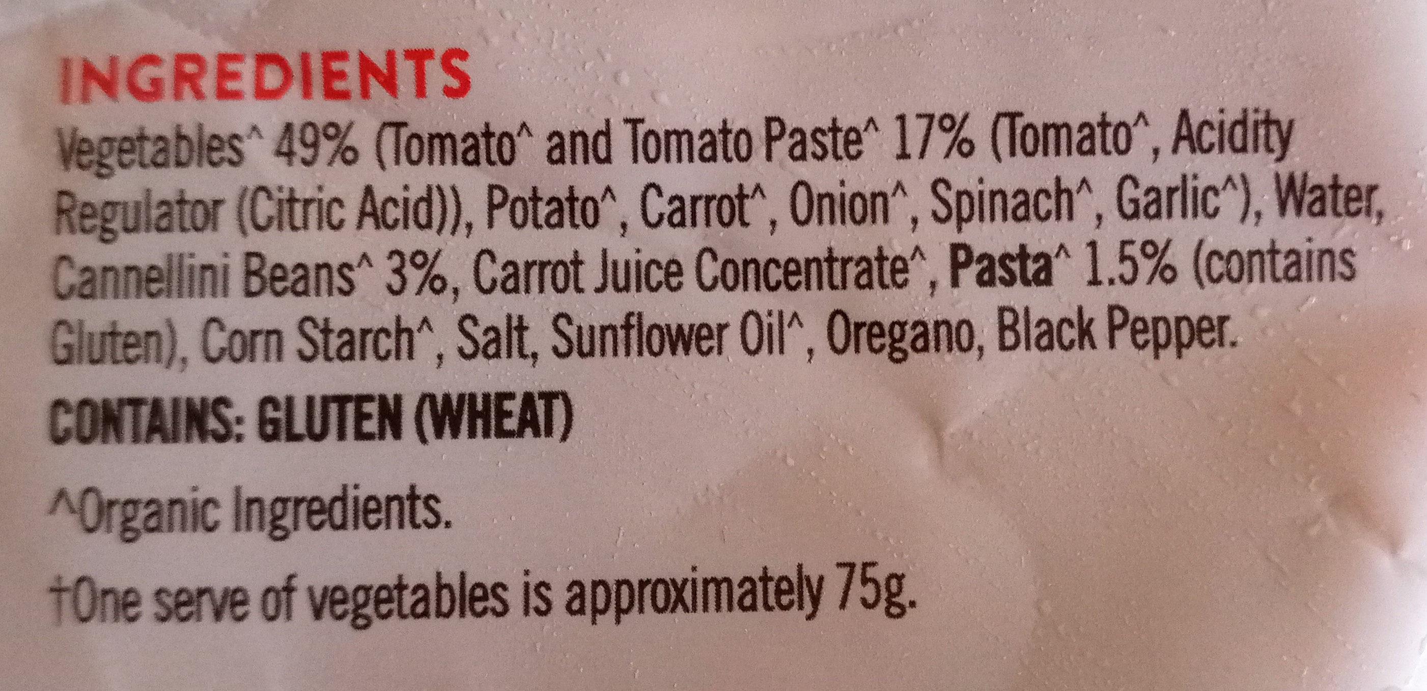 Organic minestrone soup - Ingredients - en
