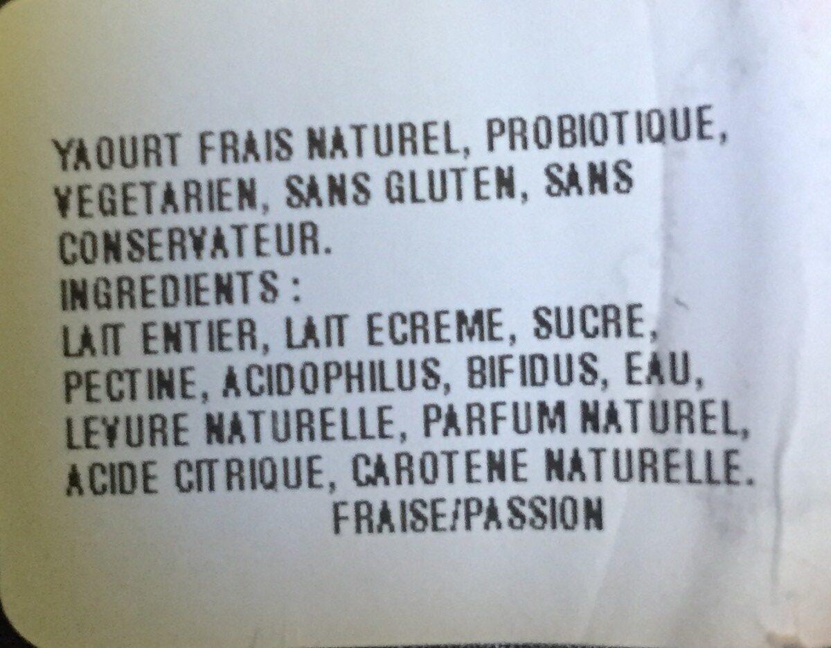 Passion Fruit Live Gourmet Yoghurt - Inhaltsstoffe - en