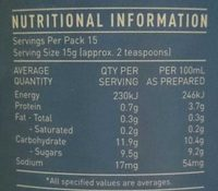 Divine Drinking Chocolate Rich Cafe Style - Nutrition facts