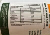 Lemon Honey Ginger - Informations nutritionnelles - fr