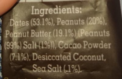Snackaballs cacao & peanut butter - Ingredients