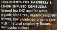 Raspberry Lemon - Ingrédients