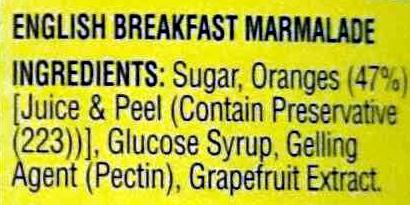 English Breakfast Marmalade - Ingrediënten