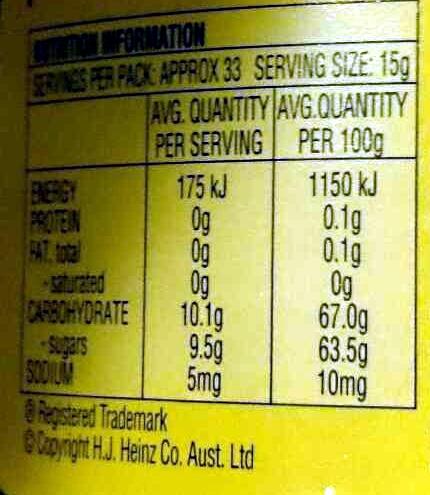 English Breakfast Marmalade - Voedingswaarden