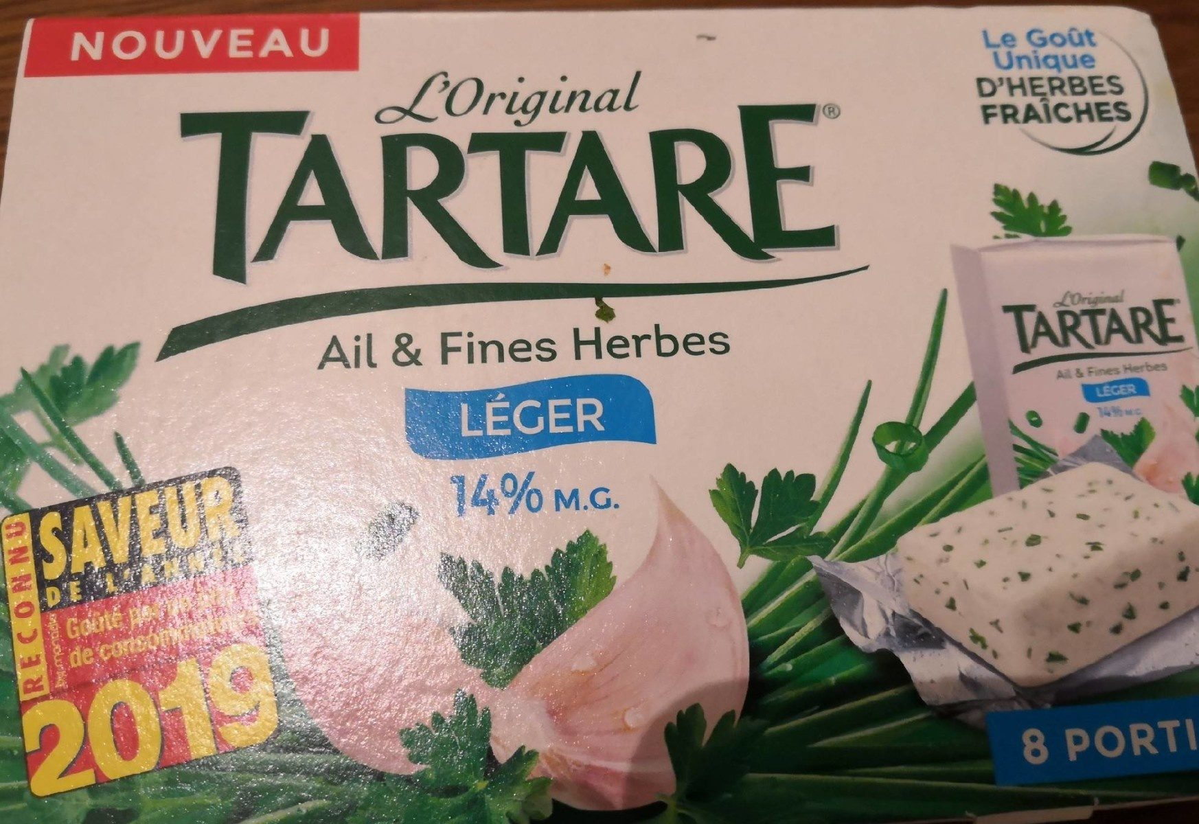 Tartare Ail et fines herbes Léger 14% - Produit - fr