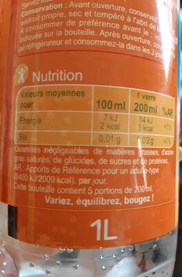 les aromatisées - Nutrition facts - fr