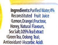 Ovi hydration citrus - Ingredients