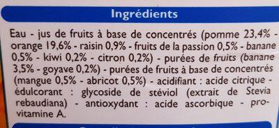 Nectar multifruit - Ingredienti - fr