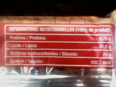 BISCUIT PETIT BEURRE - Nutrition facts