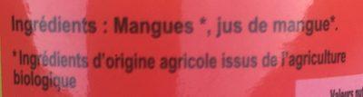 Mangues en Tranches au Jus de Mangues - Ingrédients