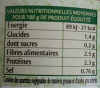 Coeurs de palmiers - Nutrition facts - en