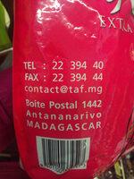 tsy lefy - extra moulu - café de madagascar - Informations nutritionnelles - fr