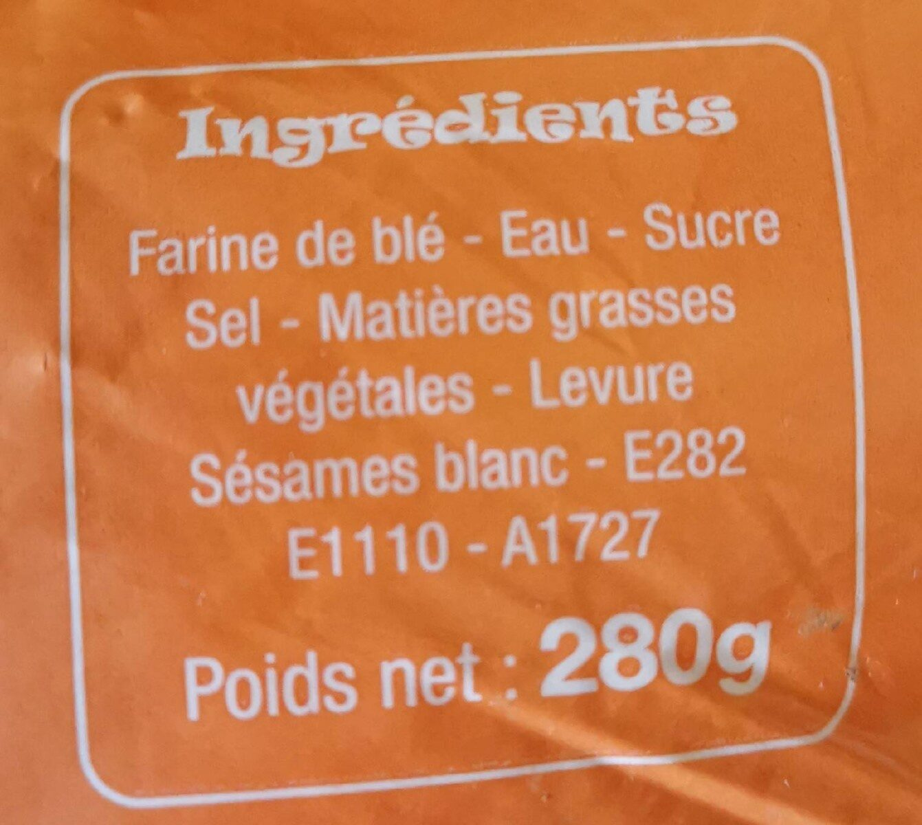 4 buns extra gourmand - Informations nutritionnelles - fr