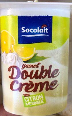 Yaourt double creme citron meringué - Produit