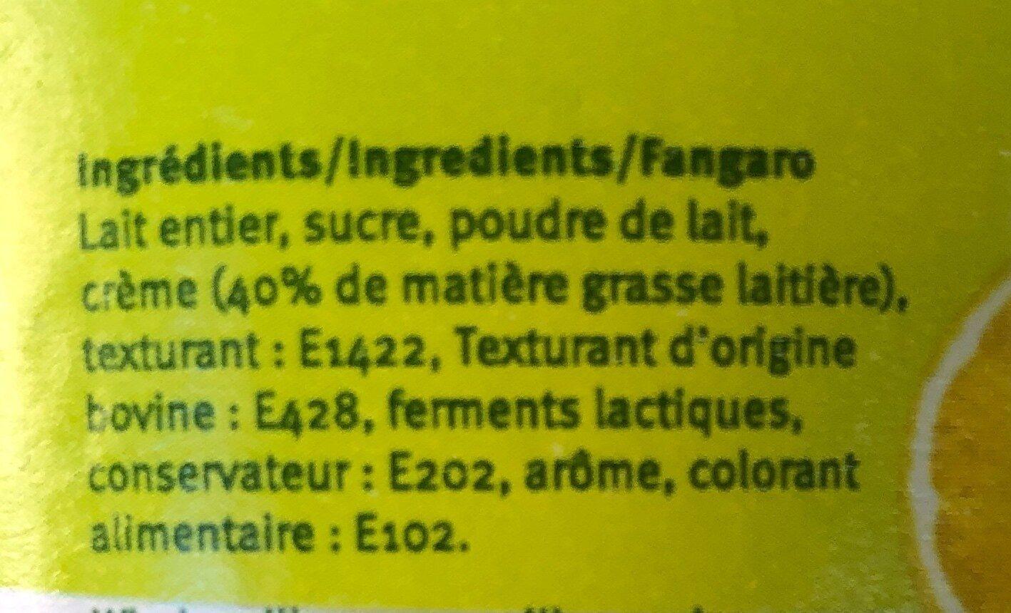 Yaourt double creme citron meringué - Ingrédients