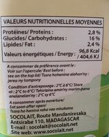 yaourt vanille - Informations nutritionnelles - fr